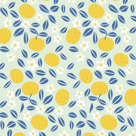 seamless: Japanese summer orange pattern Illustration