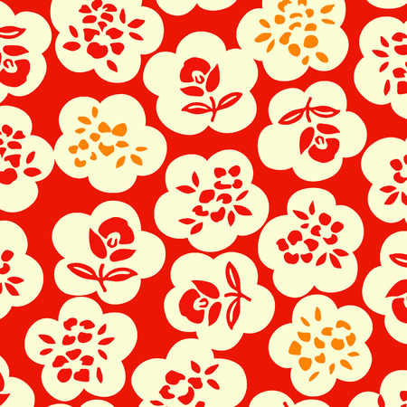seamless: Japanese floral pattern