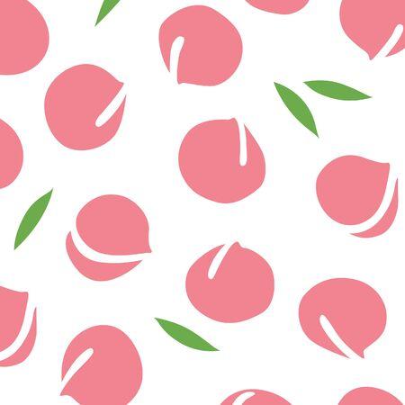 Japanese peach pattern 版權商用圖片 - 87420552