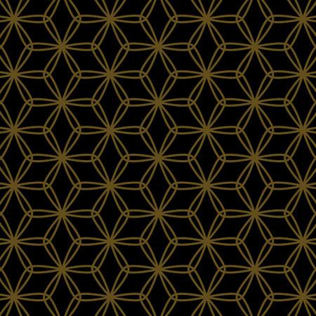 Japanese gold leaf pattern Illustration
