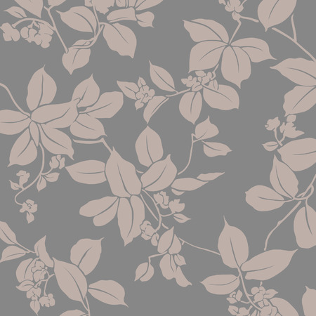 Japanese trailing leaf and flower pattern