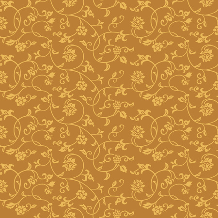 Japanese ivy and flower vintage pattern