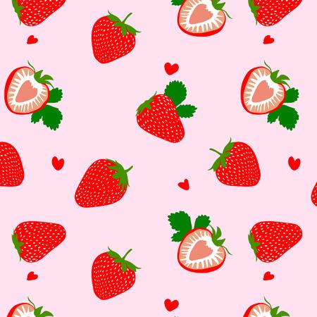 Cute Heart Strawberry Pattern