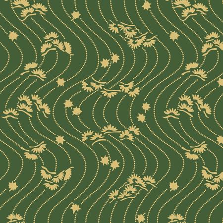 Japanese Pine Wave Pattern Illusztráció