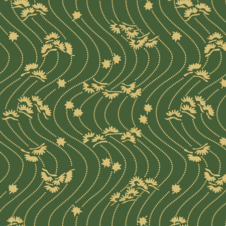 Japanese Pine Wave Pattern  イラスト・ベクター素材
