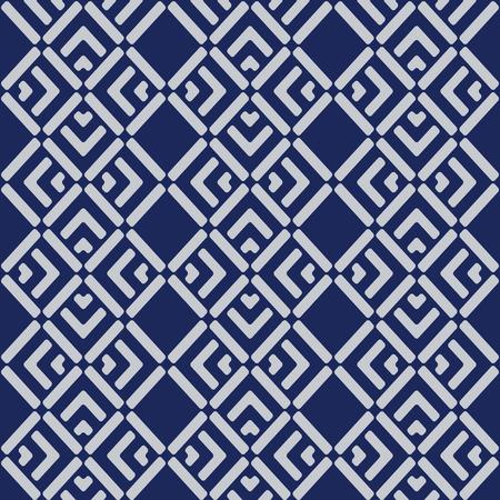 Japanese Overlapping Diagonal Square Pattern Illusztráció