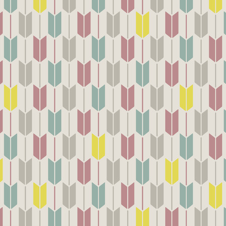 Japanese Cute Arrow Pattern  イラスト・ベクター素材