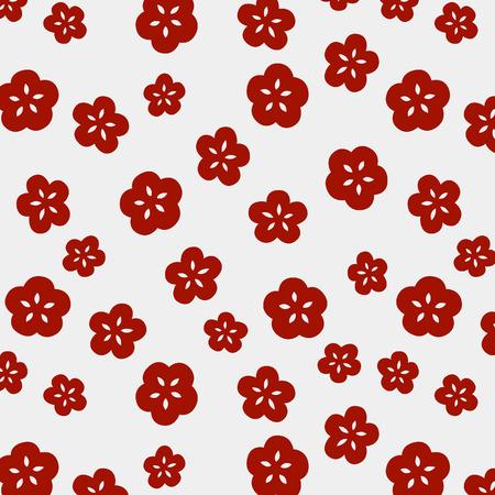 Japoński ładny mały wzór kwiatu wiśni