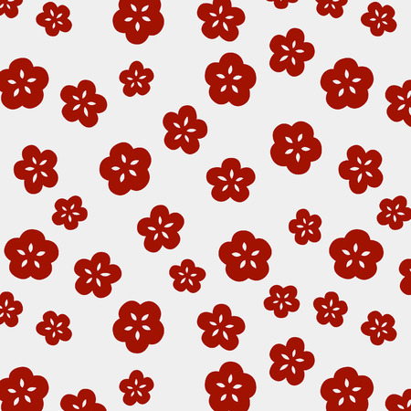 Japanese Cute Small Cherry Blossom Pattern
