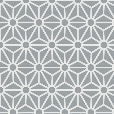 Japanese Grey Hexagon Star Pattern