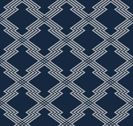 Japanese Zigzag Geometric Pattern Illustration
