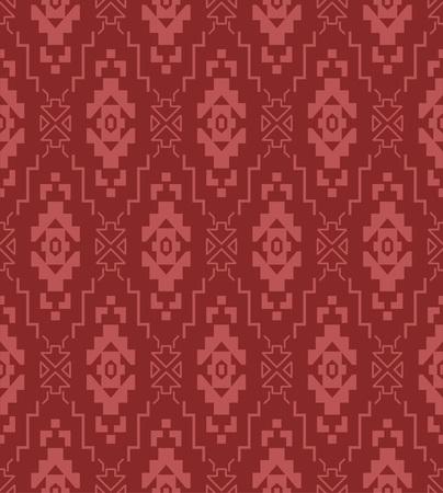 Japanese Tribal Square Art Seamless Pattern