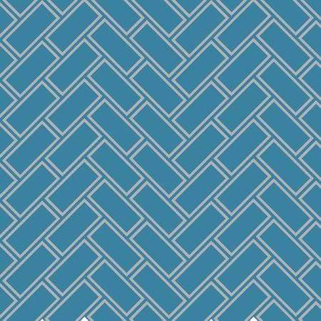 Japanese Zigzag Rectangle Art Seamless Pattern
