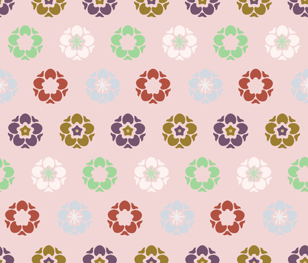 Japanese Cute Tiny Blossom Art Seamless Pattern Illustration