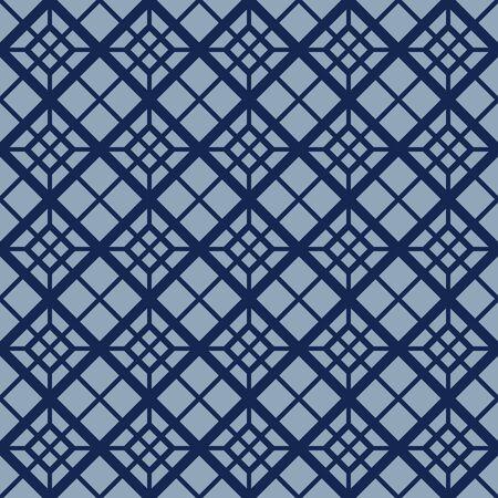 Japanese Diagonal Square Seamless Pattern