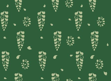 Japanese Fern Leaf Seamless Pattern Иллюстрация