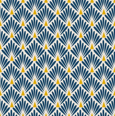 Japanese Diamond Fan Seamless Pattern