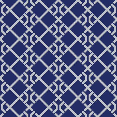 Japanese Weaving Square Seamless Pattern Vetores