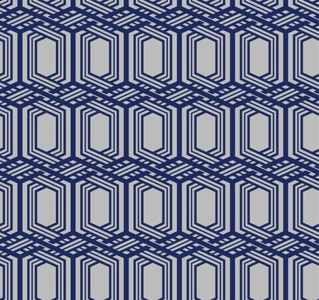 Japanese Hexagon Weaving Seamless Pattern