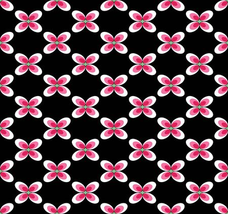 Japanese Pink And Black Blossom Seamless Pattern