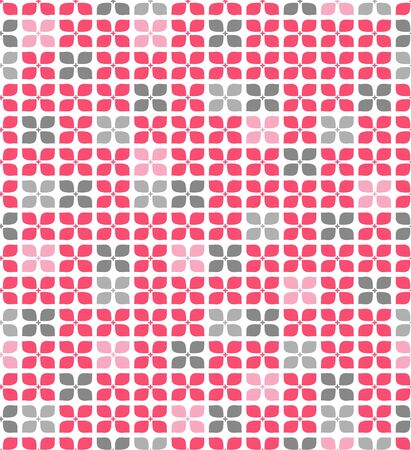 Japanese Pink And Gray Flower Seamless Pattern