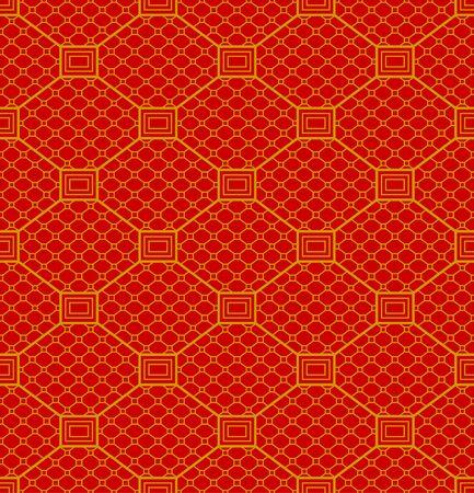 Japanese Red Diamond Seamless Pattern Illusztráció
