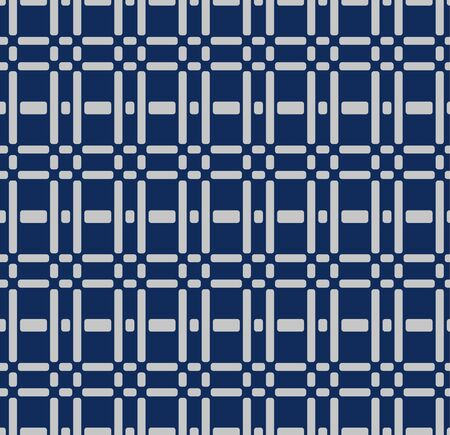 Japanese Checked Seamless Pattern Иллюстрация