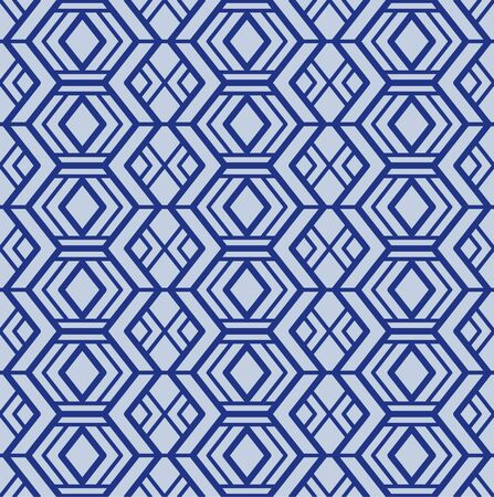 Japanese Indigo Folk Tribal Diamond Seamless Pattern