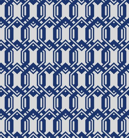 Japanese Overlapping Hexagon Seamless Pattern