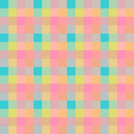 Japanese Bubblegum Pastel Plaid Seamless Pattern