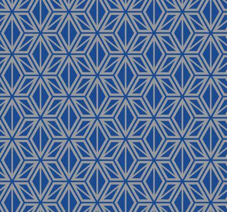 Japanese Hemp Star Seamless Pattern