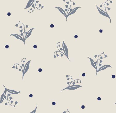 Japanese Lily Seamless Pattern