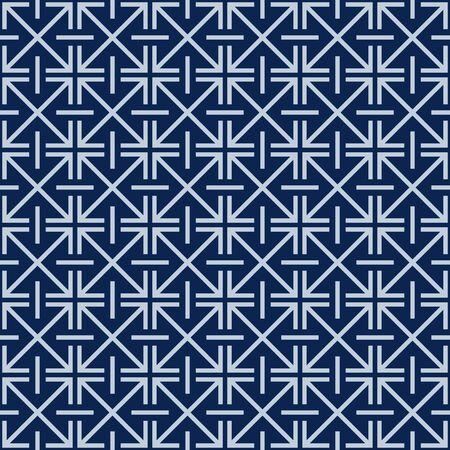 Japanese Abstract Cross Seamless Pattern