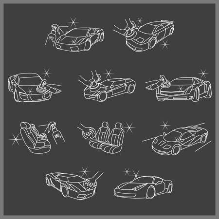 Car Care Service Icon Set
