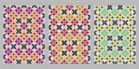 Korean patchwork wrapping cloth abstract background