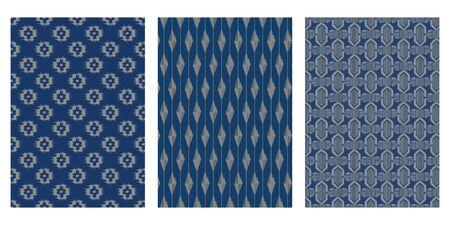 Japanische Textilkunst abstrakte Vektor-Hintergrund-Sammlung