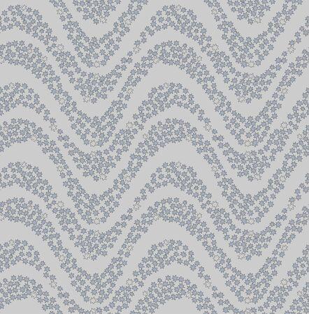 Japanese Maple Leaf Flowing Water Vector Seamless Pattern