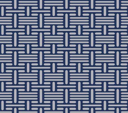 Japanese Weaving Line Vector Seamless Pattern Vektorové ilustrace