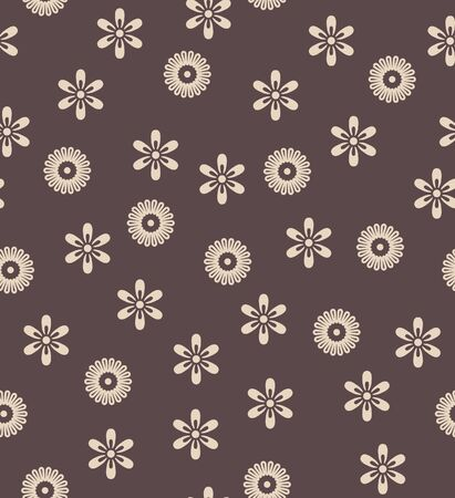 Japanese Floral Fall Vector Seamless Pattern