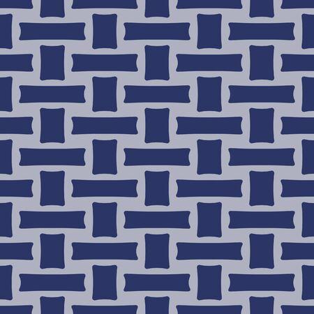 Japanese Basket Weave Vector Seamless Pattern Vektorové ilustrace