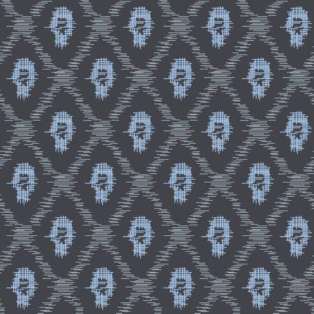 Japanese Tribal Diamond Vector Seamless Pattern 向量圖像