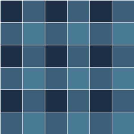 Japanese Blue Plaid Vector Seamless Pattern