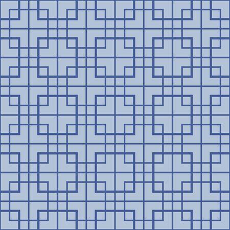 Japanese Square Cross Vector Seamless Pattern
