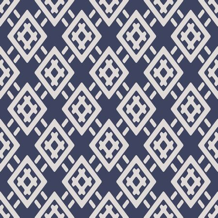 Japanese Diamond Weaving Vector Seamless Pattern
