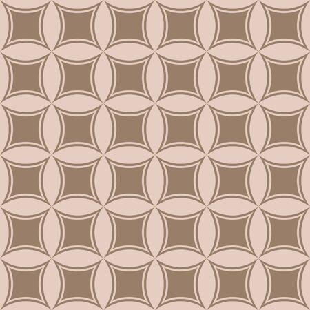 Japanese Flower Tile Vector Seamless Pattern