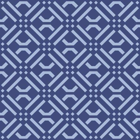 Japanese Geometric Square Vector Seamless Pattern 向量圖像