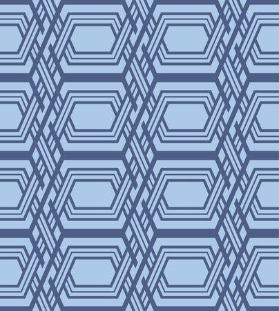 Japanese Hexagon Chain Vector Seamless Pattern