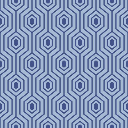 Japanese Honeycomb Line Vector Seamless Pattern