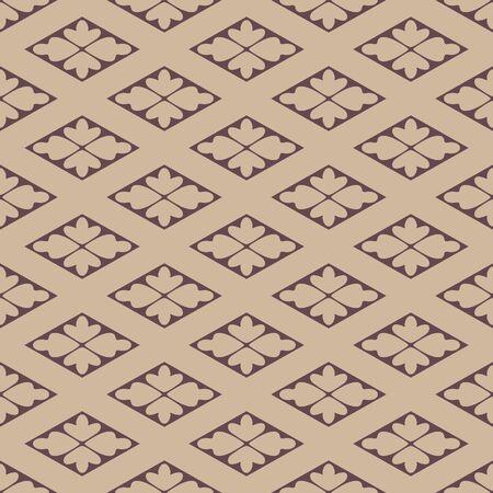 Japanese Diamond Flower Vector Seamless Pattern