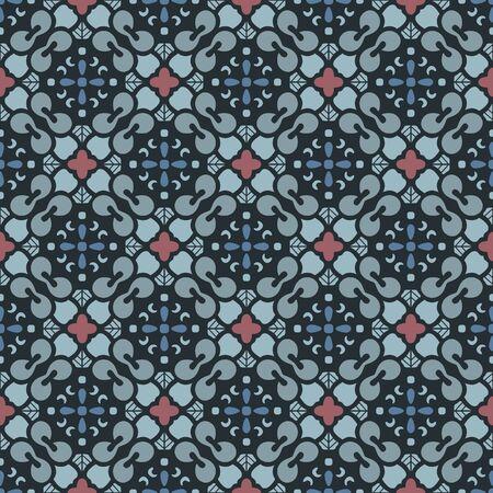 Japanese Diamond Motif Vector Seamless Pattern
